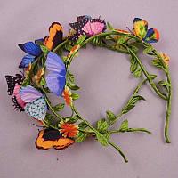 Обруч с бабочками, разные цвета.