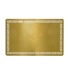 Визитка металлическая для сублимации (золото греческий орнамент) 0.45 мм