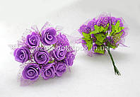 Роза фатин  (цена за букет 10 шт) Цвет - фиолетовый