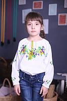Вышиванка для девочки с незабудками
