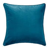 "IKEA ""САНЕЛА""  Чехол на подушку, темная бирюза, 65x65 см"