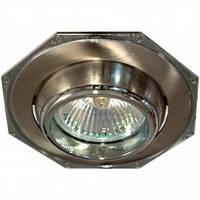 Точечный светильник (декоративное литье)Цоколь G5.30 титан-хром  Feron 305-T