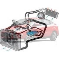 Система охлаждения Ford Focus Форд Фокус 2011--