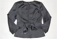 Школьная форма пиджак пиджак  с завязкой-ленточкой дев. черный 65%хлопок,35%полиэстер 98561 Pinetti,  Италия 1