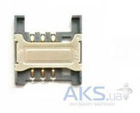 (Коннектор) Aksline Разъем SIM-карты Lenovo A2207 / A288T / A258T / A336 / A660 / A298T / K860i