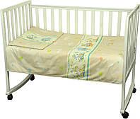 """Детский комплект постельного белья """"Младенец"""", дизайн """"Мышка с сыром"""", бежевый"""