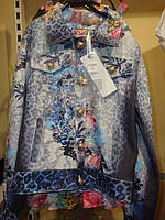 Школьная форма пиджак пиджак  с цветами на пуговицах дев. розы красные 65% хлопок, 35%полиэстер 97334 De Salit