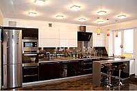 """Кухня в современном стиле """"Черный нарцыс"""" с крашенными фасадами в черно-белых цветах"""
