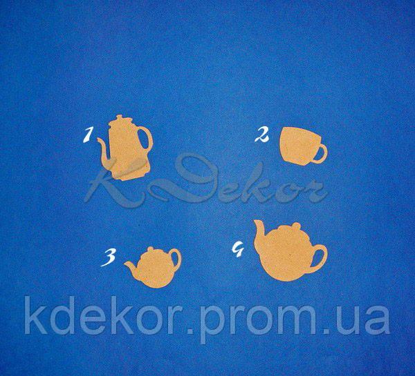 Чайничек (чайник) №4 заготовка для декупажа и декора
