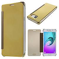 Чехол книжка Clear View Cover для Samsung Galaxy A5 2016 A510 золотой