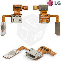 Шлейф для LG Optimus Black P970, коннектора зарядки, кнопки включения, с компонентами, оригинал