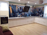 """Угловая кухня в современном стиле """"Манхетен"""" с крашенными фасадами в МДФ белого цвета"""