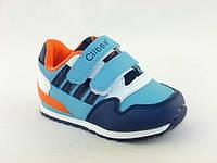 Детская обувь кроссовки Clibbe арт.TS-F-557 Син+оранж (Размеры: 31-36)