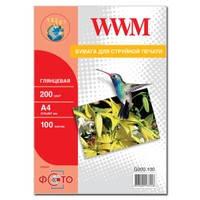 Фотобумага WWM глянцевая 200г/м кв , A4 , 100л (G200.100)