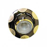 Точечный светильник(декоративное литье)цоколь G5.3 металик-золото 156/156T
