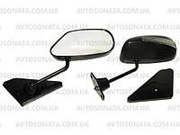 Зеркала наружные ВАЗ F2П Sport Black/Led метал/черное/пов