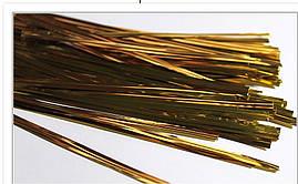 Фольгированная лента для упаковки кейк попсов (золото) 50 шт