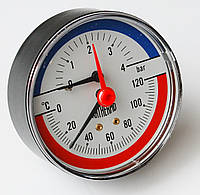 Термоманометр осевой ARTHERMO T1003 (80мм, 0-4 бар, 0-120°С)