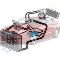 Система охлаждения Ford Fusion Форд Фюжн 2013--