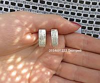 Серебряные серьги Пластинки