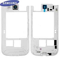 Средняя часть корпуса для Samsung I9300 Galaxy S3, полная, оригинал (белая)