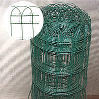 Сетка декоративная (проволока + ПВХ) высота 95 см.