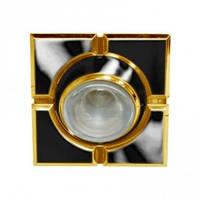 Светильник точечный (декоративное литье)Цоколь G5.3  черное золото 098TS