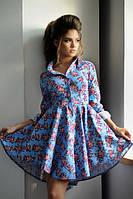Джинсовое платье со шлейфом