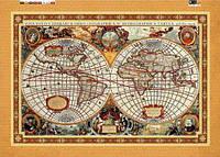 Схема для вышивки бисером на подрамнике (холст) Карта планеты Земля