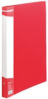 Папка A4 пласт с мет скоросшивателем и карманом BM.3407-01 (черв)