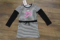 Платье - туника для девочки Полоски. Размер 4 - 12 лет Разные цвета