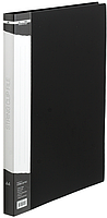 Папка A4 пласт с мет скоросшивателем и карманом BM.3407-01 (чорн)