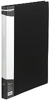 Папка A4 пласт с мет скоросшивателем и карманом BM.3407-01 (черн)