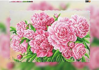 """Схема для вышивки бисером на подрамнике (холст) """"Букет розовых пионов"""""""