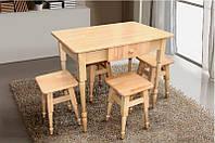 Комплект кухонный стол +4табурета  ТМ МиксМебель