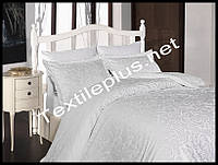 First choice постельное белье сатин евро размер Sweta beyaz