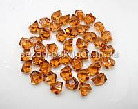 Искусственный лед 25х15мм камушки, кристаллы  пластиковые декоративные (цена за 30шт). Цвет – коричневый