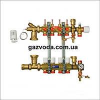 GIACOMINI Модульный коллекторный узел для систем отопления на 7 контуров Арт.R53
