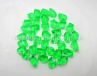 Искусственный лед 25х15мм камушки, кристаллы  пластиковые декоративные (цена за 30шт). Цвет – ярко зеленый