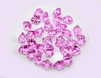 Искусственный лед 25х15мм камушки, кристаллы  пластиковые декоративные (цена за 30шт). Цвет – сиреневый