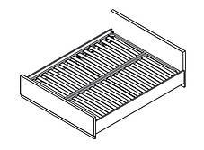 Кровать LOZ/160 Арека (BRW Брест TM), фото 2