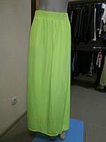 Длинная юбка кислотно-желтого цвета