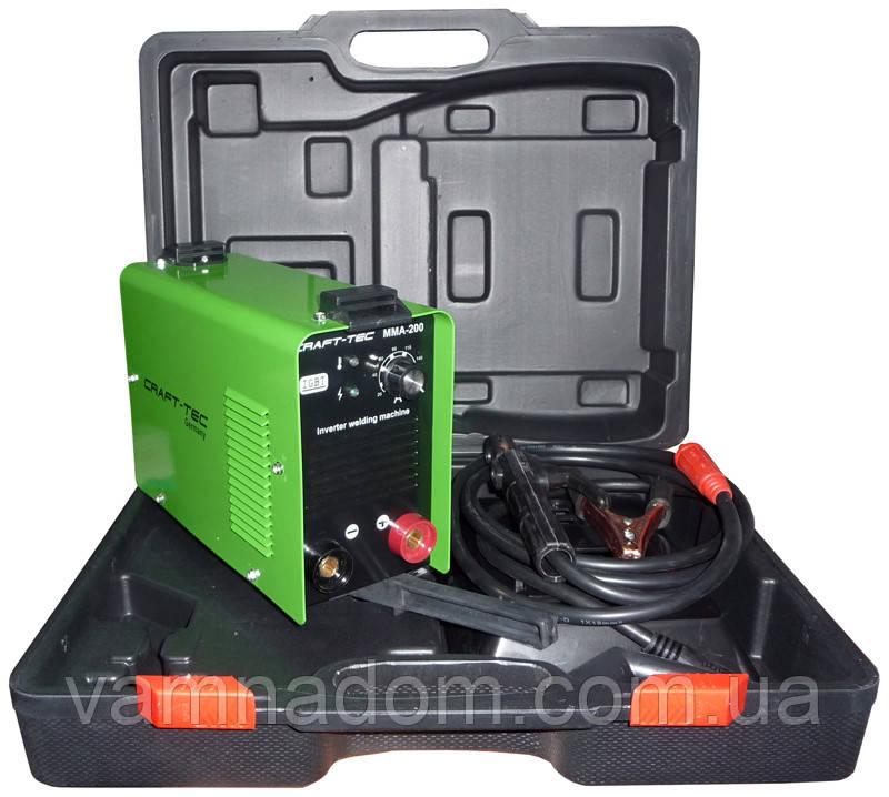 Инверторный сварочный аппарат Craft-tec ММА-200PI (Кейс)