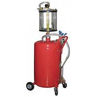 Установка для вакуумной откачки масла с мерной колбой 80л G.I. KRAFT B8010KV
