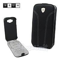 Brum Premium Кожаный чехол для Samsung Galaxy Grand i9082/i9080 (No.31 black)
