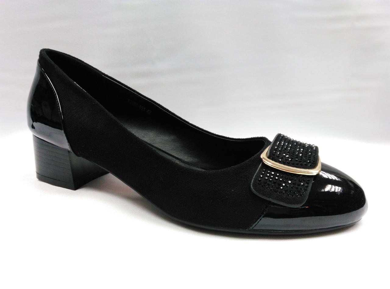 Туфли на низком каблуке . Большие размеры.