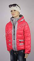 Куртка для девочек 18-23 delfin-free, р.116-140, 6-11 лет, коралл, фото 1
