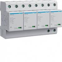 Комбинированный разрядник, класс 1, сменный, с индикацией и доп.контактом, TT, 4п, 100kA, 8м SPN802R