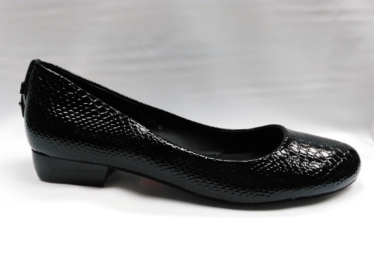 Лаковые туфли на низком каблуке . Большие размеры.