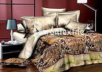 Комплект постельного белья  семейный тигры на траве